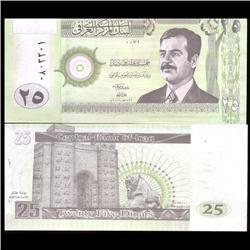 2002 IRAQ2 5 Dinars Crisp Unc Note (COI-3805)