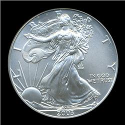 2003 Eagle $1 Silver Coin MS70 ICG  (COI-970)