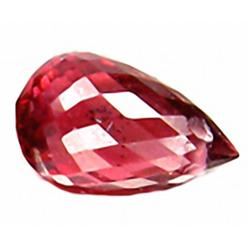1.25ct RARE Glistening Briolette Red Rhodolite Garnet VVS RETAIL $650 (GEM-4992A)