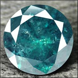 0.2ct. Dazzling Blue Diamond Round Cut RETAIL $1850 (GMR-0146)