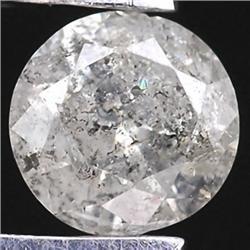 .16ct RARE Round Cut Unheated White Diamond RETAIL $850 (GEM-7935)