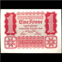 1922 Austria 1 Krone Note Hi Grade (COI-3900)