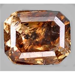 .18ct RARE Octagon Cut Unheated Fancy Diamond RETAIL $800 (GEM-8244)