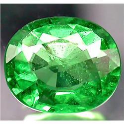 0.97ct VERY RARE Top Green Tsavorite Garnet Untreated VS RETAIL $3400 (GEM-7773)