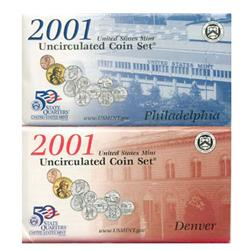 2001 US Coin Original Mint Set GEM Potential (COI-2301)