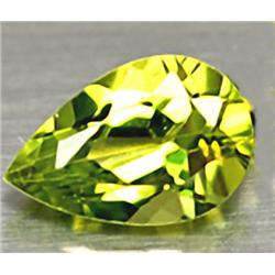.9ct RARE Excellent Pear Neon Green Peridot VVS RETAIL $550 (GEM-4535B)