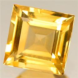 0.6ct.  Sparkling Yellow Citrine Sqaure 5mm RETAIL $400 (GMR-0141)
