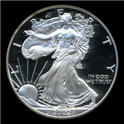 2002W Silver Eagle PROOF Graded GEM PR70 (COI-4072)