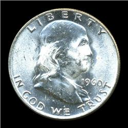 1960D FBL Uncirculated Franklin Half Coin (COI-928)