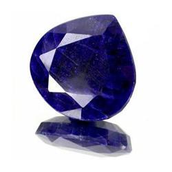 34.13ct. Rich Royal Blue African Sapphire Pear Cut RETAIL $2390 (GMR-0061)