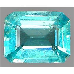 0.98ct RARE Oct RARE agon Cut Blue Green Natural Apatite VVS RETAIL $950 (GEM-7466)
