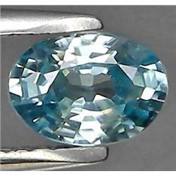 1.19ct RARE Oval Cut Light Blue Zircon VVS RETAIL $1450 (GEM-7985)