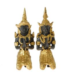 Male & Female Bronze Gilded Temple Guards (CLB-200)