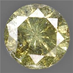 .13ct RARE Round Cut Unheated Fancy Diamond RETAIL $750 (GEM-7430)