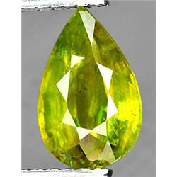 1.60ct VERY RARE Scintellant Pear Rich Multi Color Sphene Madagascar VS RETAIL $1650 (GEM-4998)