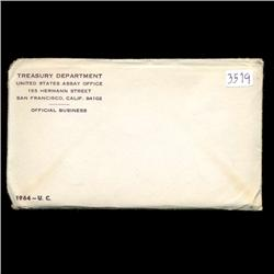 1964 US Mint Silver Coin Set UNOPENED (COI-2964)