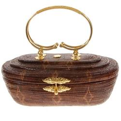 Finely Hand-woven Lipao Gold plate Handbag (ACT-023)
