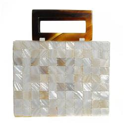 Handcrafted Mother of Pearl Handbag (ACT-168)