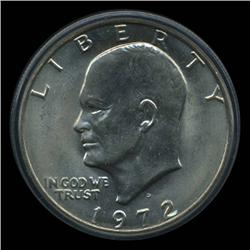 1972D Eisenhower Silver Dollar Graded MS65 Uncirculated (COI-4076)