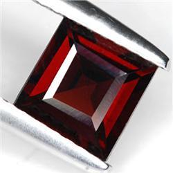 .9ct. Blazingly Gorgeous Red Square Garnet Gem 5 mm RETAIL $425 (GMR-0178)