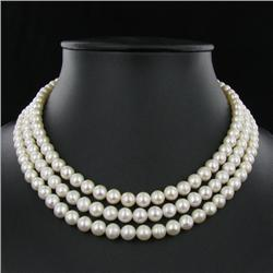 White Small Saltwater Pearl Necklace (JEW-250)
