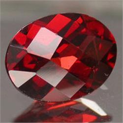 .5ct. Blazingly Gorgeous Red Oval Garnet Gem 6x4mm RETAIL $300 (GMR-0162)