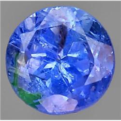 0.70ct VERY RARE  Round Cut Top AAA Blue Natural Tanzanite VS/SI RETAIL $800 (GEM-7551)