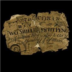 1754 North Carolina 2 Shilling 8 Pence Colonial Note (COI-3243)