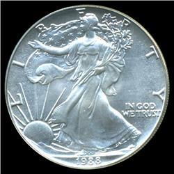 1988 Silver Eagle $1 Graded MS70 (COI-4035)