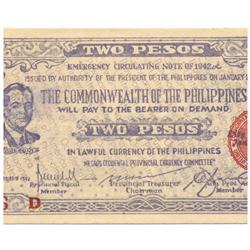 1942 Philippines 2 P Guerrilla Note WW2  (COI-964)
