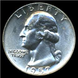 1957D Washington 25c Quarter Coin Graded MS68 (COI-4048)