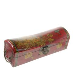 Chinese Leather Covered Pillow Box (CLB-029)