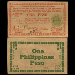 1944 Philippines WW2 1 Peso Guerrilla Note (COI-3885)