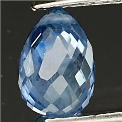 .3ct. Top Rich Blue Sapphire Briolette VS RETAIL $ (GMR-0202)