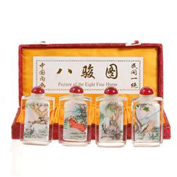 Chinese Beveled Glass Snuff Bottle Set  (CLB-159)