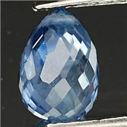.3ct. Top Rich Blue Sapphire Briolette VS RETAIL $275 (GMR-0200)