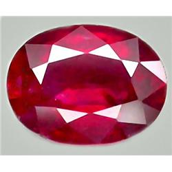 2.78ct RARE Top Quality Super Red Natural Ruby Madagascar Oval CLEAR CLEAN RETAIL $1300 (GEM-7496)