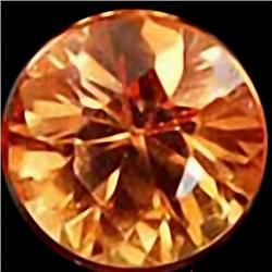 2.8mm Excellent Yellow Orange Sapphire VVS RETAIL $250 (GEM-4541R)