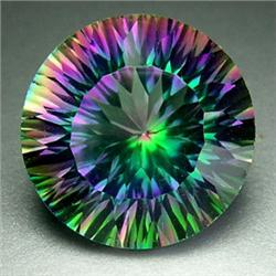 11ct TOP GRADE Blazing Color Mystic Topaz 15mm RETAIL $1350 (GMR-0236)