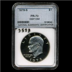 1978S IKE Dollar Coin Proof Graded super GEM  (COI-3517)