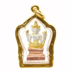 Heavy 24k Gold Filled Tibet Buddha Amulet  (JEW-155)