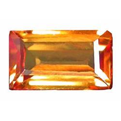 .74ct RARE  Wonderful  Orange Sapphire VVS RETAIL $1300 (GEM-4654)