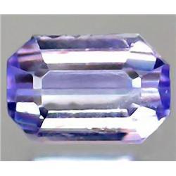 1.17ct VERY RARE  Rayel Light Blue Violet Tanzanite Octagon VVS RETAIL $2350 (GEM-7815)
