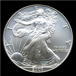 2007 Silver Eagle Graded GEM MS70 (COI-4067)