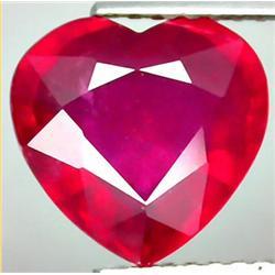 3.69ct RARE Precious Heart Top Red Natural Ruby Madagascar CLEAN CLEAR RETAIL $1600 (GEM-7812)