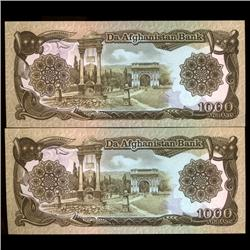 1979 Afghanastan 1000 Afghanis Crisp Unc Note (COI-3804)