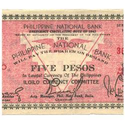 1943 Philippines 10 P Guerrilla Note WW2 (COI-962)