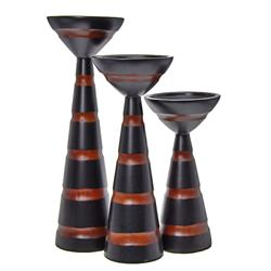Hand Crafted Mango Wood Candle Stands (DEC-251)