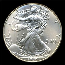 2002 Silver Eagle Graded GEM MS70 (COI-4069)