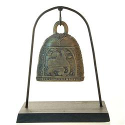 Bronze Elephant Bell on Stand (ANT-127)